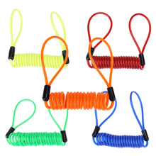 1.2M Anti Theft Bicycle Lock Rope Helmet Wire Motorcycle Scooter Disc Spring Wire Lock Security Reminder Cycling Bike Lock Tool(China)