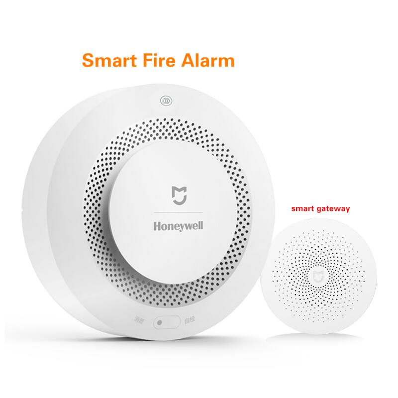 2017 Original Xiaomi Mijia Honeywell Fire Alarm Detector Audible Visual Smoke Sensor Remote Mi Home Smart APP Control<br>