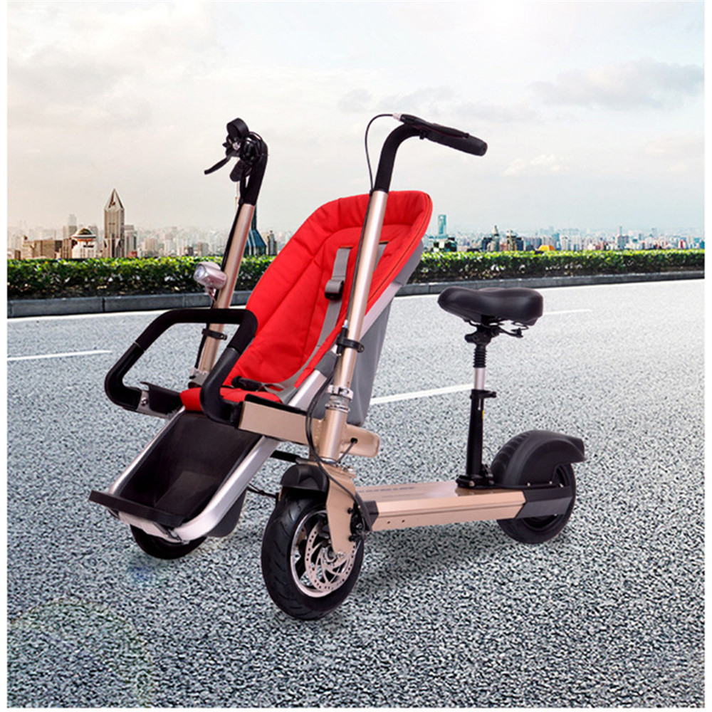 12 Inch Aluminum Alloy Removable Load 160kg Mini 36V 12Ah Electric Family Bicycle Pram Mother and Child Car Stroller03