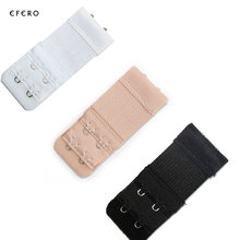3PCS Bra Extenders Strap Buckle Extension 2 Rows 2 Hooks Clasp Straps Women Bra Strap Extender Sewing Tool Intimates Accessories(China)