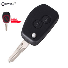 KEYYOU For Renault Megane Dacia Modus Espace Duster Clio 2 Button Flip Folding Remote Car Modified Key Fob Case