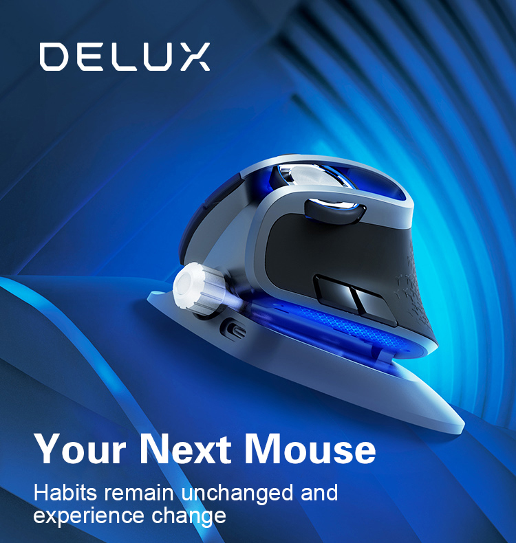 Delux M618X Mouse Wireless Mouse Bluetooth Mouse Gaming Mouse
