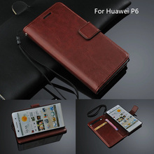 Fundas Huawei P6 Card Holder Cover Case For Huawei Ascend P6 P6s Leather Phone Case Ultra Thin Wallet Flip Cover Quality Holster(China)