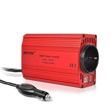 BESTEK 300W Car Inverter 12v 220v 50Hz EU Outlet Convertisseur 12v 220v Auto Inverter 12 220 Car Power Inverter Lighter Inverter(China)