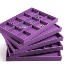 All purple jewelry display tray series accessories show case organizer no cover jewellery box with good craft