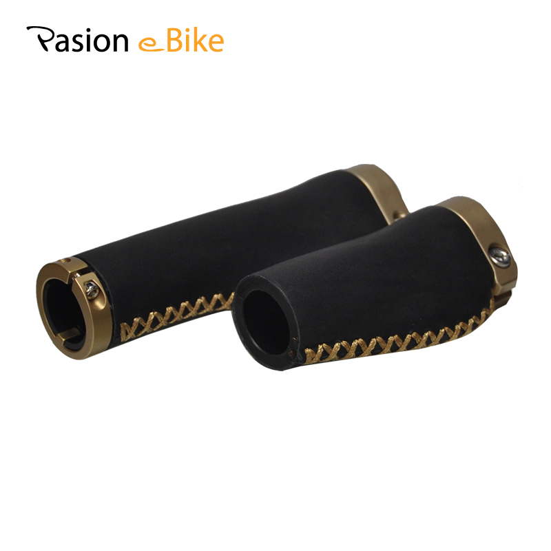 PASION E BIKE Bicycle Grips Cover Leather Mountain Bike Lock On Bicycle Handle bars Electric Bikes Parts Width 47MM<br>