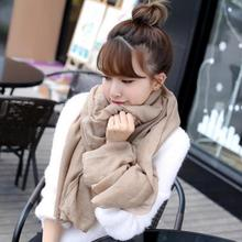 New Fashion Winter Women Scarf Vintage Ladies Solid Color Black Red White Scarves Warp shawl female bufanda mujer cachecol