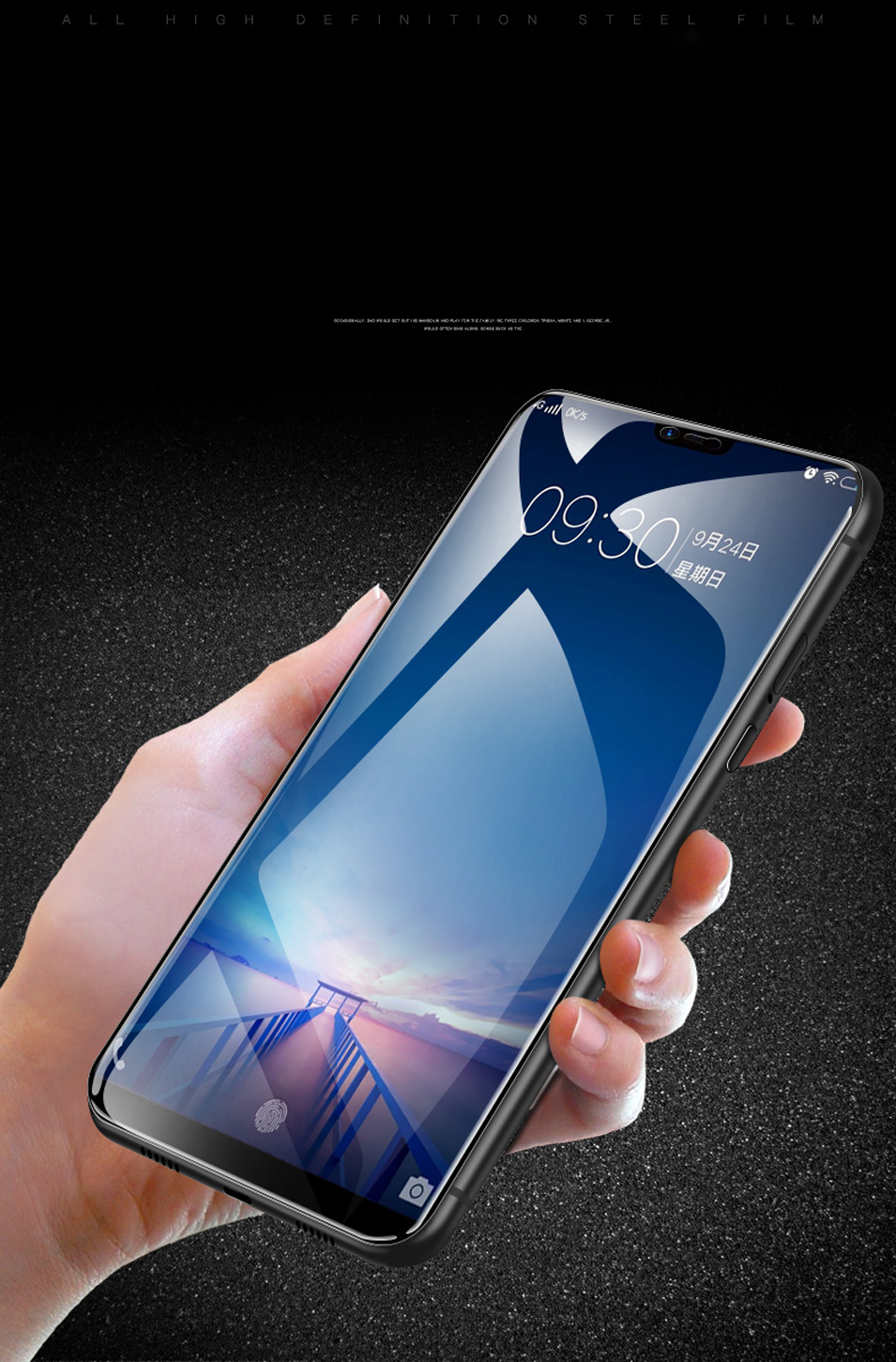 LECAYEE For Vivo V9 Youth Tempered Glass For Vivo V9 V7+ Y71 V7 Plus V9 Youth Full Cover Edge Safety Screen Protective Glass (9)