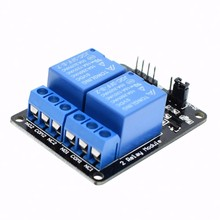 10pcs 2-channel New 2 channel relay module relay expansion board 5V low level triggered 2-way relay module for arduino