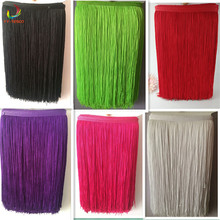 Buy 2 yard/lot 50CM Long Polyester Fringe Trim African Tassel Ribbon Lace Accessory Sew Latin Dress Garment Curtain DIY Accessories for $15.58 in AliExpress store