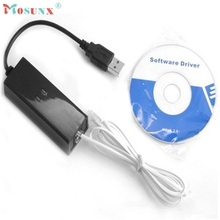 Mosunx Factory price New USB 56K V.90 V.92 External Dial Up Voice Fax Data Modem for Win XP VISTA 7 8 Linux 51126 MotherLander