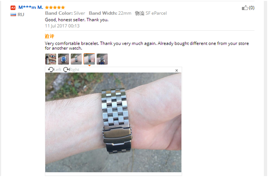 High Quality 2022mm SilverBlack Bracelet Men Women Watch Band Strap Cool Replacement Solid Link Stainless Steel Watchstrap (2)