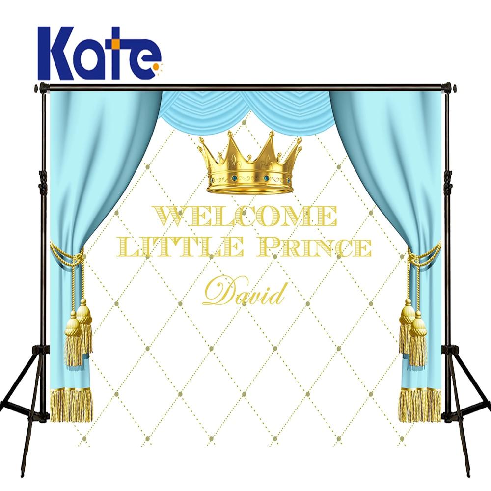KATE Photography Backdrops Birthday Photocall Personalizado Newborn Custom Photography Backdrop Blue Curtain Background <br>