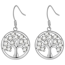 Christmas Tree 925 Earring New Arrival 925 Nice Jewelry Stud Earrings Cross Gift For Women Men Cute Earring R889(China)