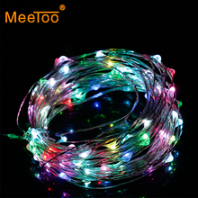 Holiday Light Garland LED Lights Decoration Waterproof Christmas Lighting 5m 2m Multi Color RGB Party Lights for 3 x AA Battery(China)