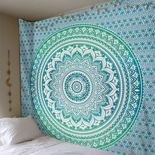 Indian Mandala Tapestry Wall Hanging Boho Printed Beach Throw Towel Yoga Mat Table Cloth Bedding Home Decor 210X150Cm(China)