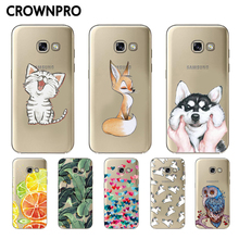 CROWNPRO Clear Soft TPU Cases FOR Samsung Galaxy A7 2017 A720 Silicone Back Cover FOR Coque Samsung A7 2017 A720F Phone Cases