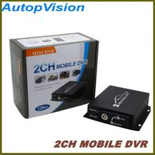 HD 2CH CAR DVR with motion detection/alarm recording/manual recording(China)