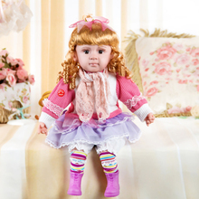 Free shipping Genuine speaking english Talking Doll music / sound / recording / smart dialogue / touch talk / blinking eye