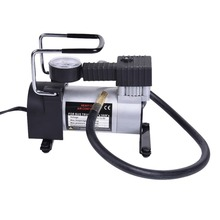 Portable metal air pump T-94 100psi 12V Pump Electric Tire Inflator Cigarette Lighter Power Supply With Gas-pressure Mete(China)
