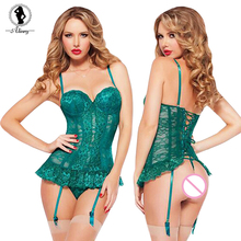 2017 New Net yarn lace transparent Sexy lingerie hot sling backless sexy chemise bandage erotic lingerie tight sexy costumes