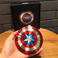 New Year gift Avengers Captain America Shield 6800MAH power bank double usb powerbank portable External battery pack charger