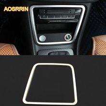 Stainless steel Central store content cover decorative cover Cigarette lighter cover Car Accessories For Seat Alhambra MK2