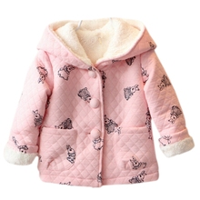 2017 Kacakid New Arrival Autumn Winter Kids Girls Clothing Baby Girls Jacket Coat Thick Cute Hoodies Jacket Changed Store(China)