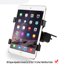 "Tablet Car Holder for iPad 9.7 2017, Universal 7 8 9 10""Car Auto CD Mount Tablet PC holder for iPad air 1 2 Tablet Car Holder"
