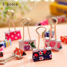 Cute Cartoon Kawaii Heart Dot Metal Clip Creative Strawberry Clips For Kids School Material Korean Stationery Free Shipping 662