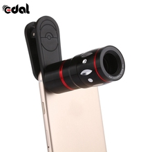 EDAL 10x zoom Telescope Lens for iPhone 7 6 Plus 5 Samsung Android LG SONY Camera Mobile Phone Lenses Black Golden Pink Color(China)