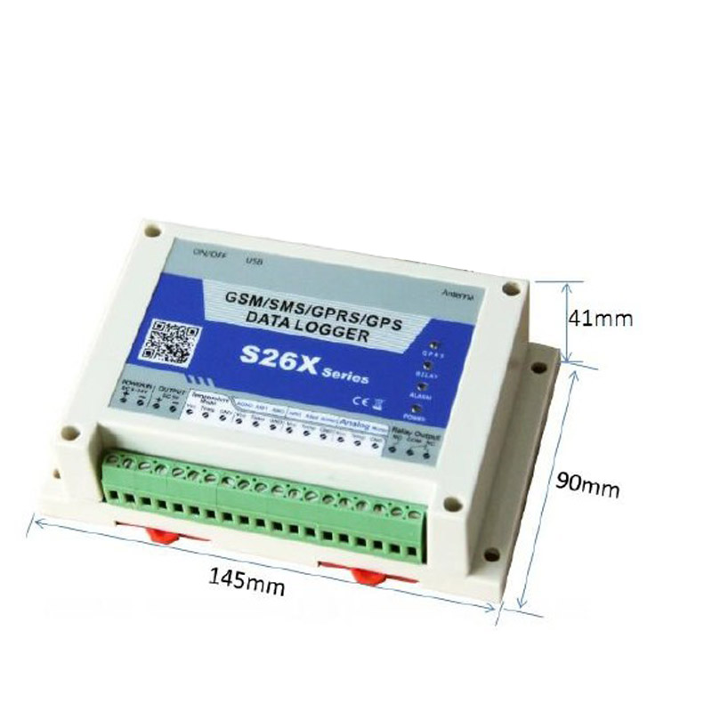 S260 S262 GPRS GPS monitoring unit dimensions