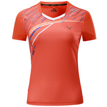 The new summer clothing badminton wicking fast dry-pong tennis woman short-sleeved shirt Sports Free Shipping
