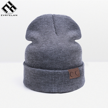 2017 New Winter Hat For Women Fashion Warm Hats Men Skullies Beanies Women's Cap High Quality Female Knitted Hat Wholesale(China)