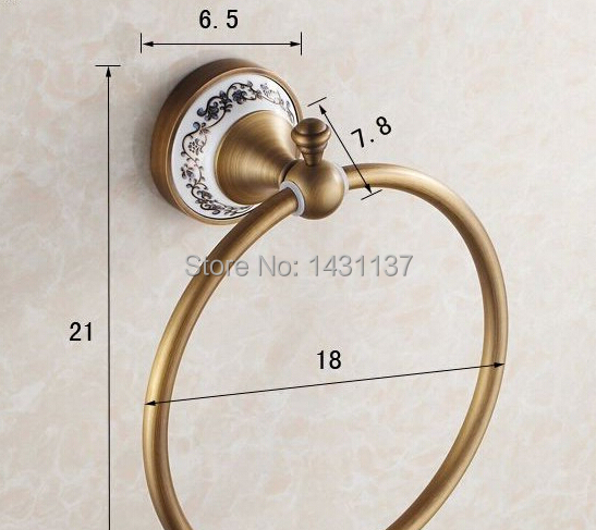 hot sale High quality wall mount Towel Ring,brass material Antique Bronze finish,Bathroom Accessories<br><br>Aliexpress