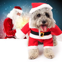 Buy Pet Christmas Costume Dog Suit Cap Santa Claus Coat Hoodies Small Dogs Cats Funny Puppy Christmas Party Clothes for $7.55 in AliExpress store