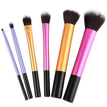 6 PCS Makeup Brushes Set Tools Make-up Toiletry Kit Wool Brand Make Up Brush Set Case Cosmetic Foundation Brush