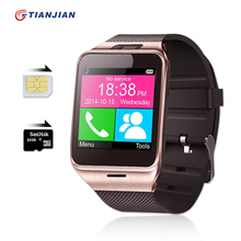 Smart Watch GV18 Android Bluetooth Smart Watches Sport Pedometer Camera Fitness Bracelet Touch Screen Smartwatch Mobile Phone(China)