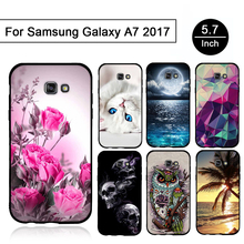 for Samsung A7 2017 Case Soft Silicone Phone Case for Samsung Galaxy A7 Cover Coque for Samsung Galaxy A7 A720 A720F A 7 Fundas(China)