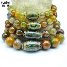 Natural Crystal Agate DIY Pulceras Para Mujer Bracelet Men Pulseras Hombre Topaz Bracelets Amber Mixed Color Assort Rainbow New(China)