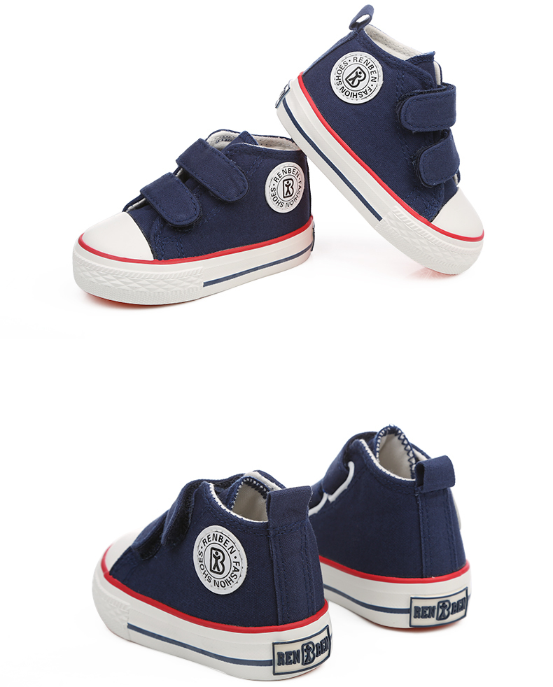 Baby shoes Girl Children Canvas shoes Boys 17 Spring Autumn Fashion High Cotton-made Baby girl little kids shoes 26