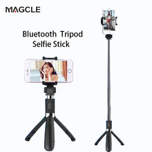 Magcle Wireless Bluetooth Selfie Stick Mini Tripod Extendable Monopod Universal For iPhone 8 X 7 6s Plus For Samsung drop ship(China)