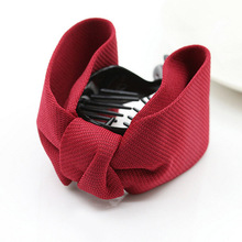 LNRRABC 10Colors Solid Grid Big Bows Ties Ponytail Women Brief Hair Claws Hairpins,Hair Accessories Drop Shipping(China)