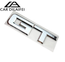 1pc 3D Car styling DESIGN GT Metal Car Nameplate Emblems Badges Decal Hood Fender For Ford For Mustang GT For BMW For Buick