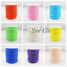 3mm Flat Chinese Soutache Snake Belly Nylon Rope Cord DIY Jewelry Material Accessories - 30M/spool