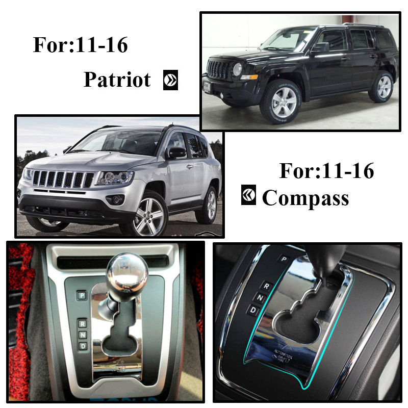 Chrome Inner Instrument Panel Dashboard Decor fits 2011-16 Jeep Compass Patriot