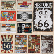 Route 66 Vintage Home Decoration Route66 Vintage Metal Tin Signs Bar Signs Led Signs Bar Neon Signs For Bar Pub