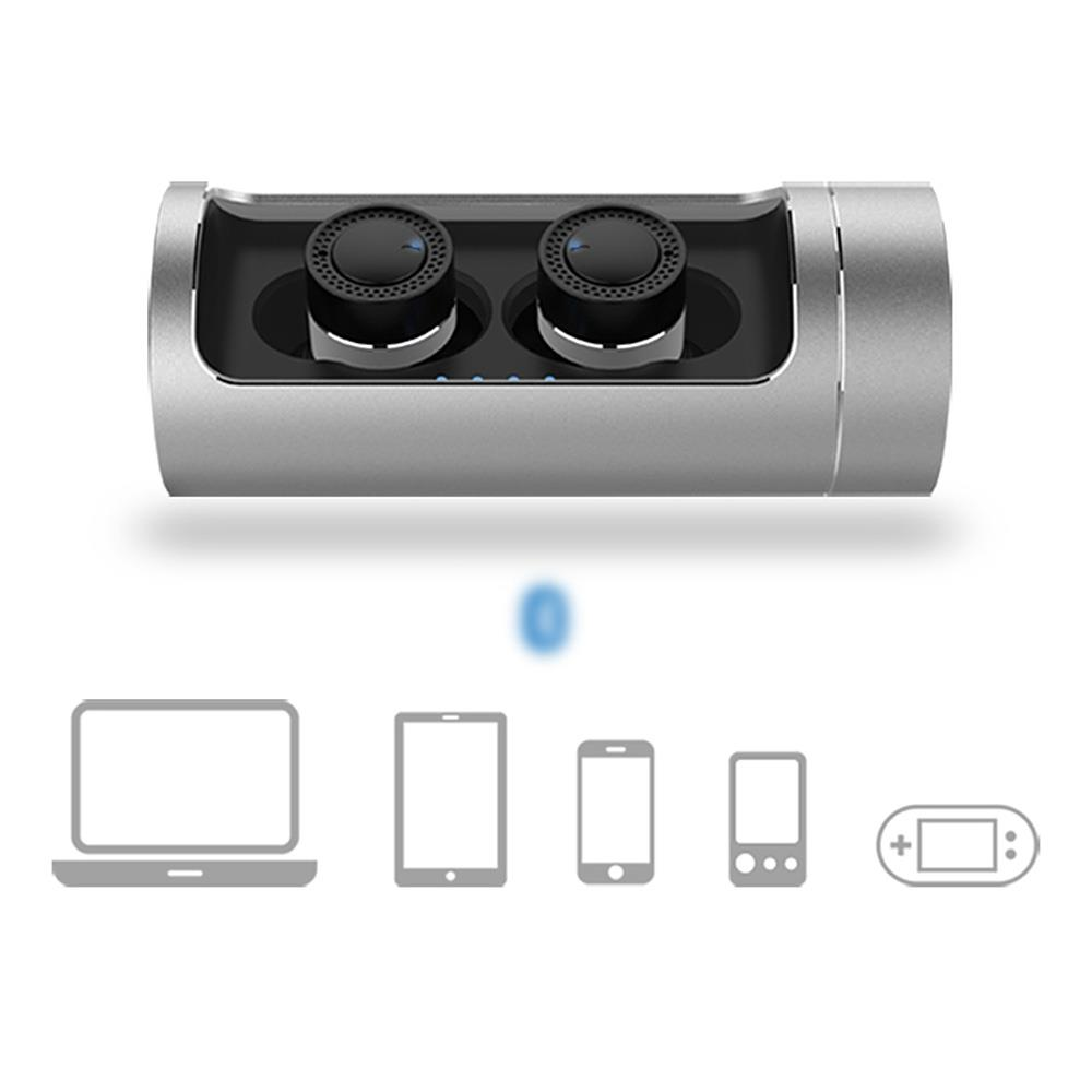 OVEVO Q62 Wireless Bluetooth Earphone with Charging Dock 800mAh Battery CVC 6.0 Noise Cancelling Headset for IOS Xiaomi Mi5