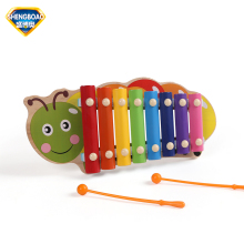 Wooden Cartoon Musical Instruments Toys 8 Scales Knocking Xylophone Piano music Keyboards Early baby child  education toys