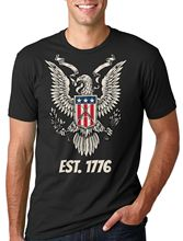 USA America United State T-shirt Eagle Est 1776 4th of July T-shirt Independence Men T Shirt Print Cotton Short Sleeve T-shirt